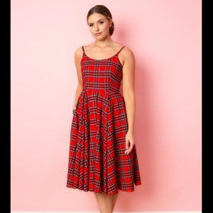 Pretty Dress Company Priscilla Red Tartan Dress